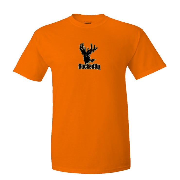 Short Sleeve Orange with Camo-Black Logo