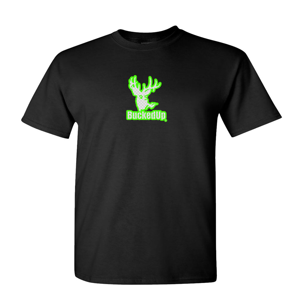 Short Sleeve Black with Green Diamond Plate Logo
