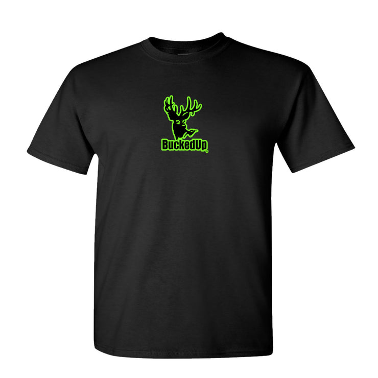 Youth Short Sleeve Black with Green Logo