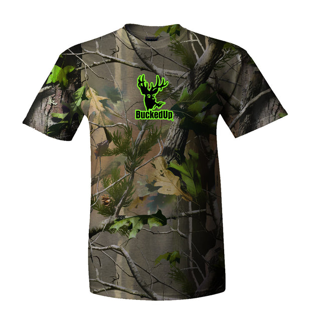 Youth Short Sleeve Realtree APG Camo with Green Logo