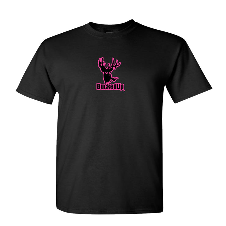 Youth Short Sleeve Black with Pink Logo