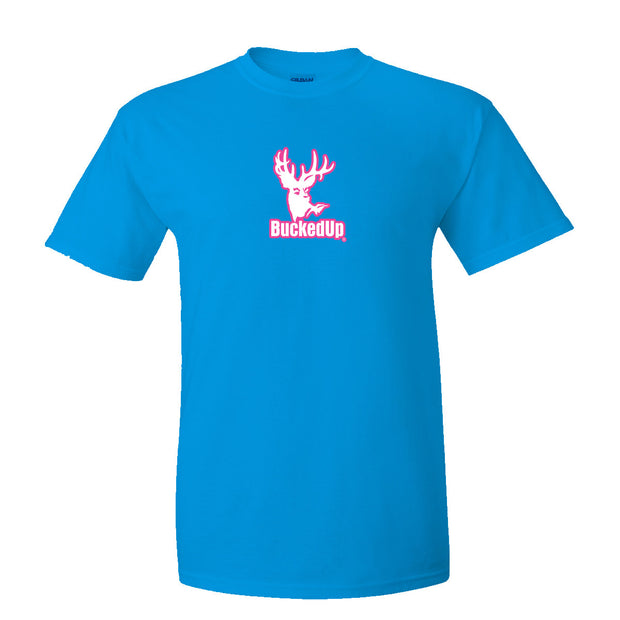 Short Sleeve Sapphire with Pink Logo