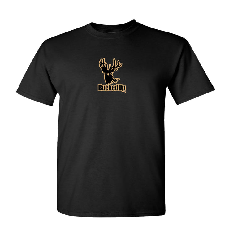 Youth Short Sleeve Black with Tan Logo