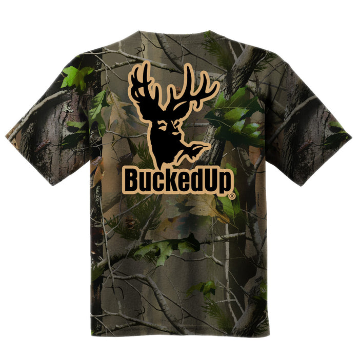 Short Sleeve Realtree APG Camo with Tan Logo