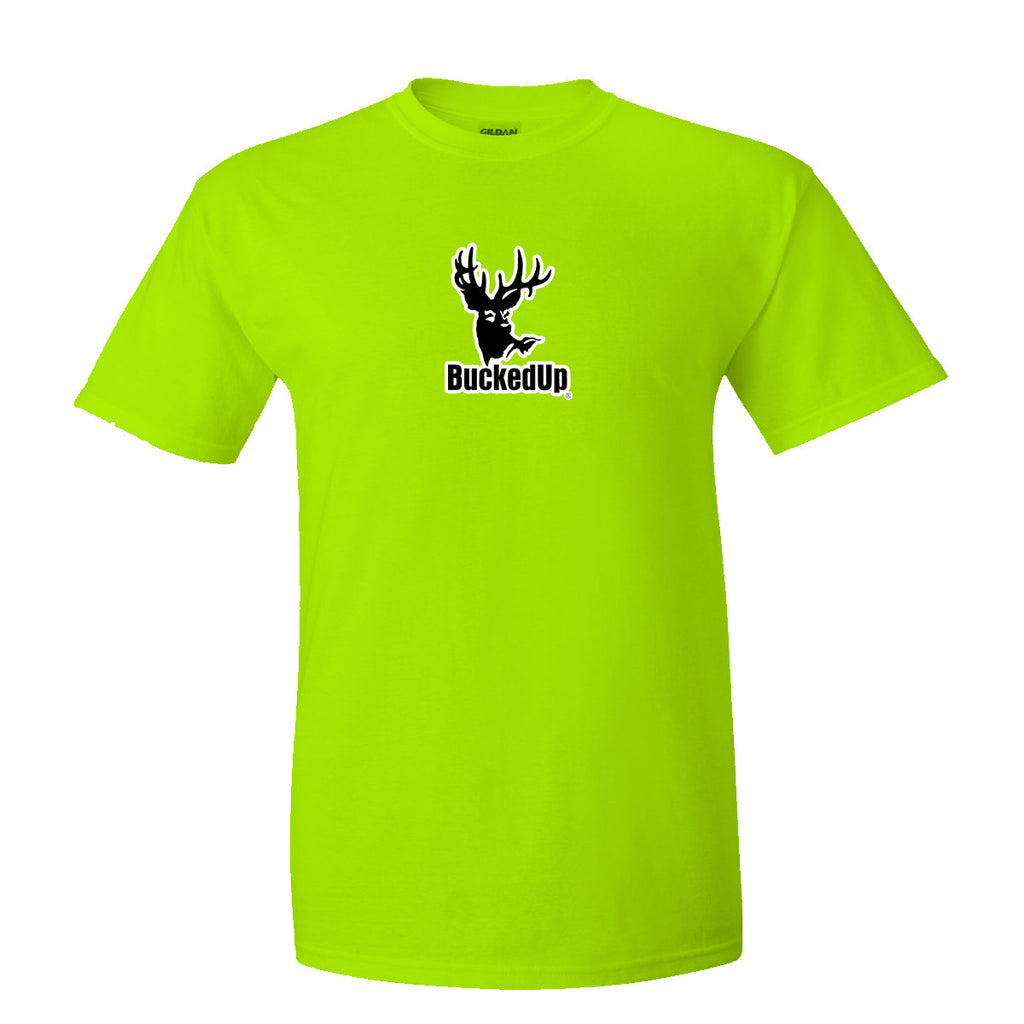 Short Sleeve Lime with White Logo