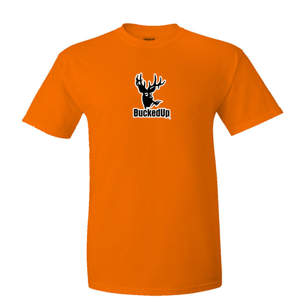 Short Sleeve Safety Orange with White Logo