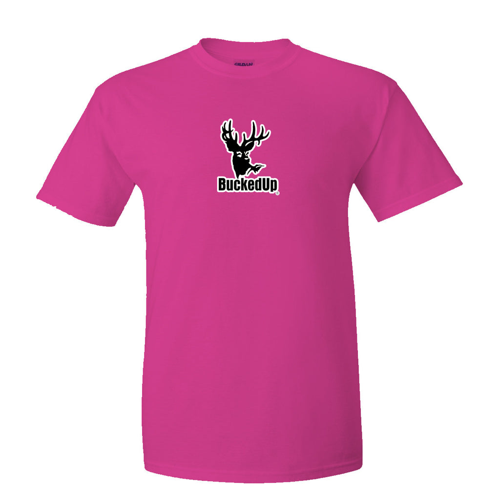 Short Sleeve Berry Pink with Black White Logo