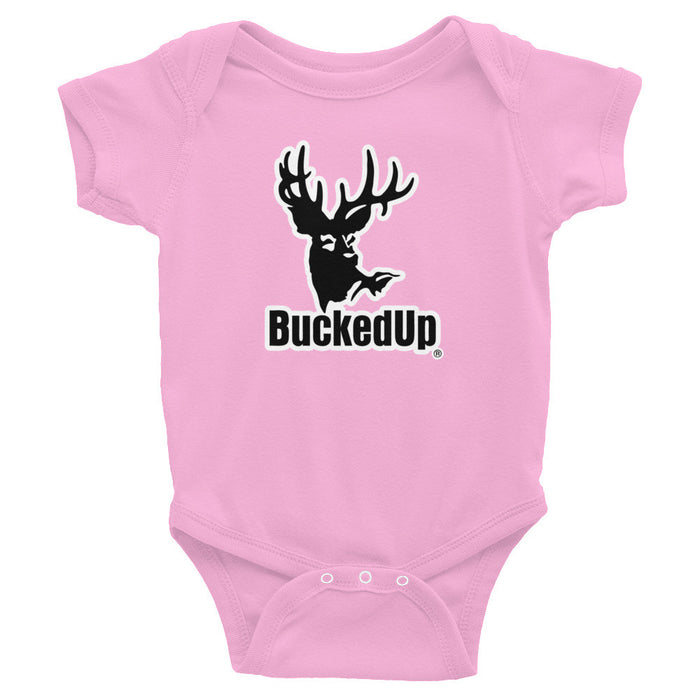 Pink Infant Bodysuit White Logo