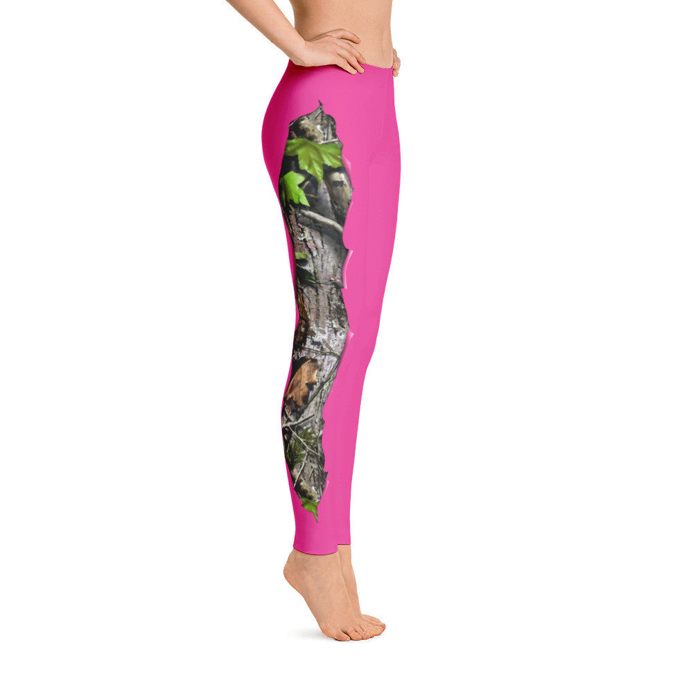 BuckedUp Pink Realtree APG Leggings
