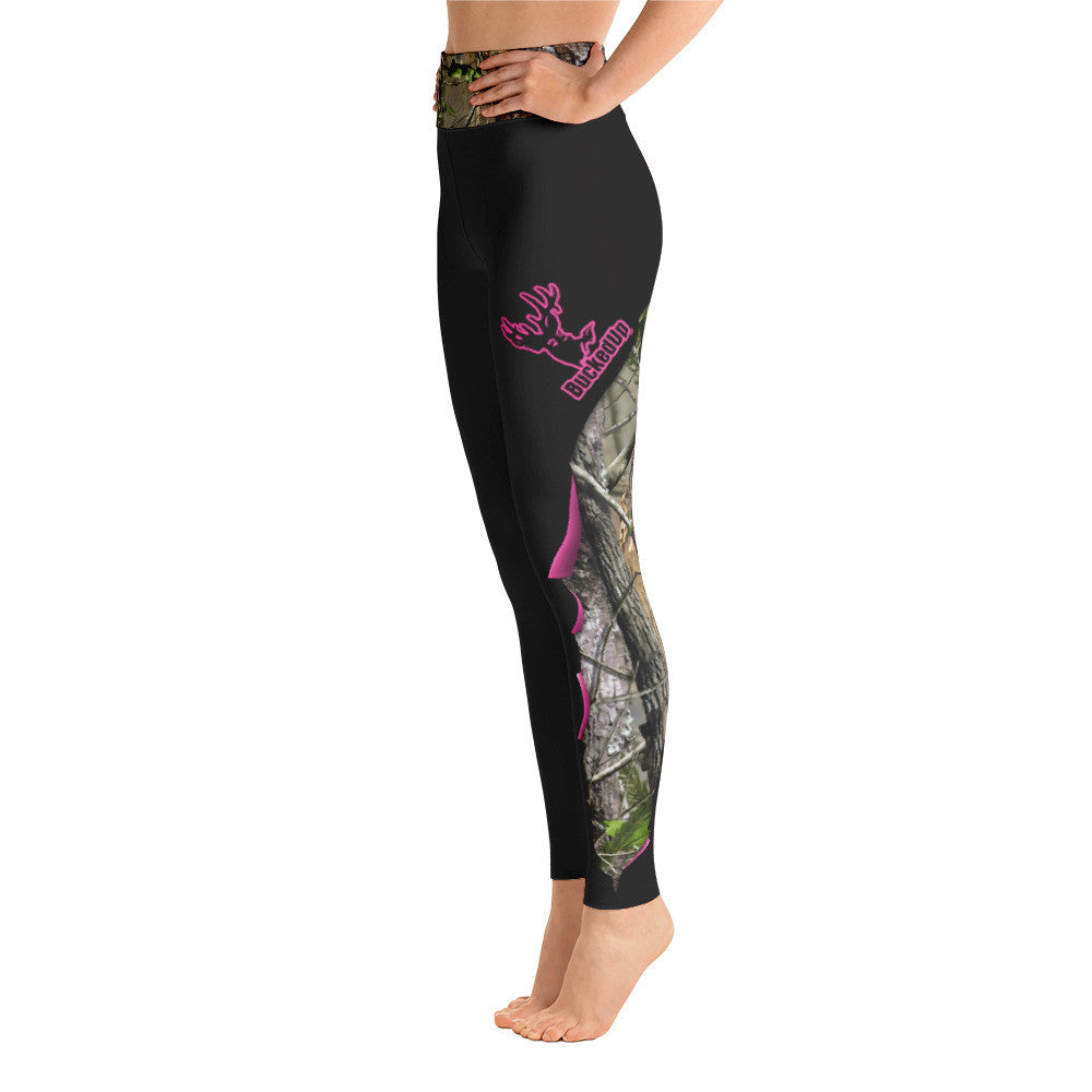 BuckedUp Dark Grey Realtree Yoga Leggings
