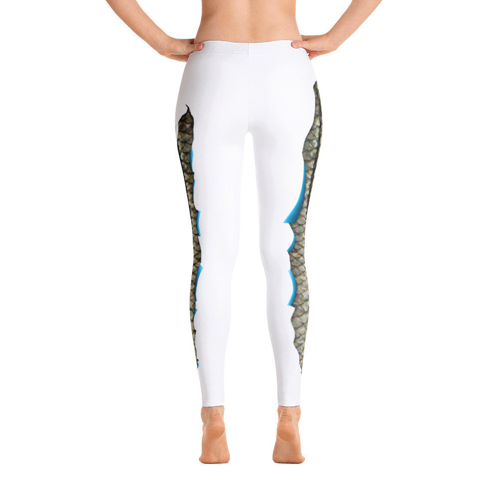 Spooled Snook White Leggings