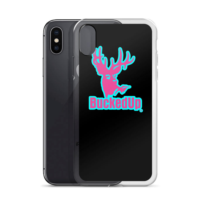 Aqua & Pink BuckedUp Logo iPhone Case