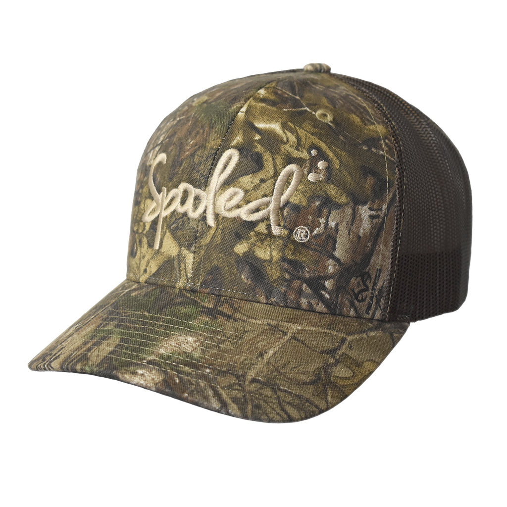 Spooled Realtree Xtra® Camo with Brown Mesh Snapback