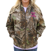 Zipper Hoodie Realtree® APG Camo with Pink Logo with Embroidered Logo