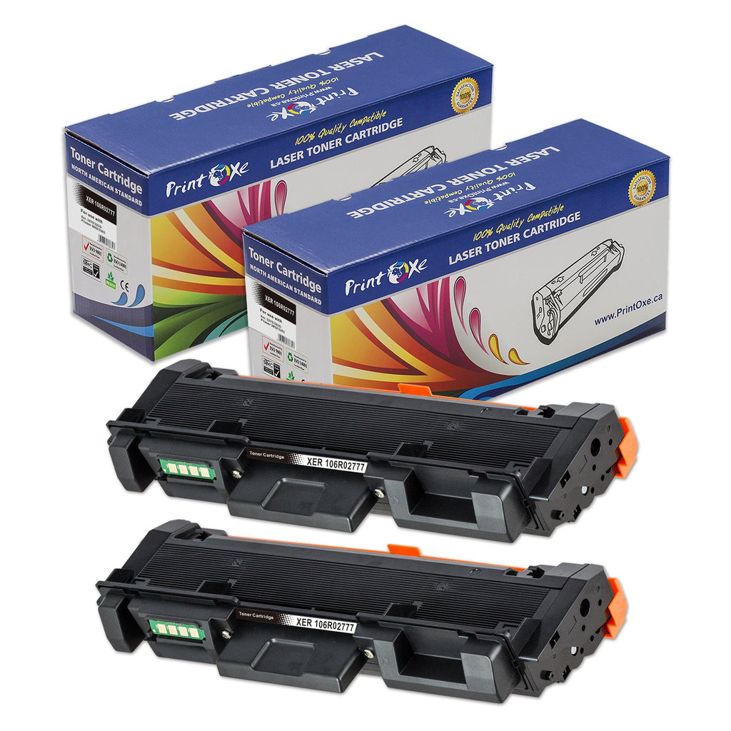 2 Compatible Xerox 106R02777 Toner Cartridges for WorkCentre 3215/3225 Phaser 3052/3260 - Pan Continent Inc. - PrintOxe