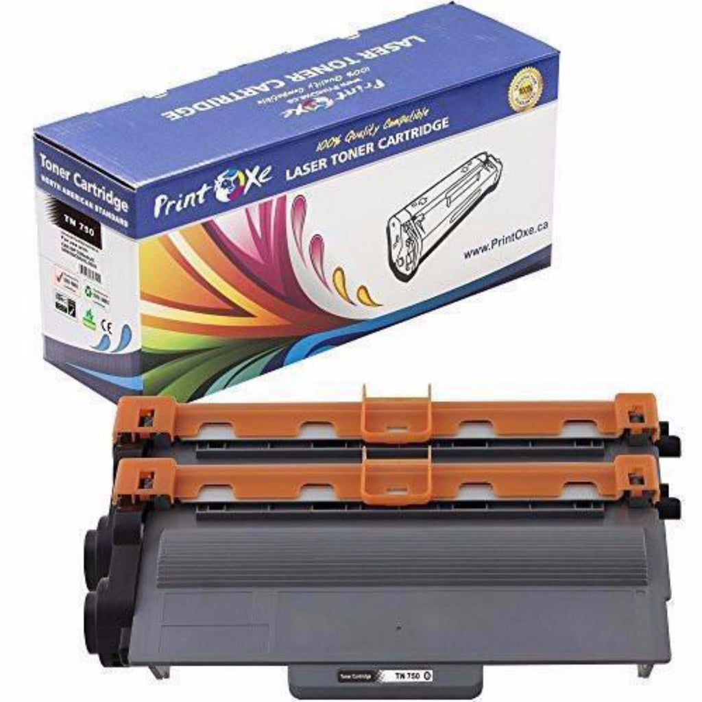 2-Pack Brother TN-750 (TN-750/3380) Compatible Toner Cartridges - Pan Continent Inc. - PrintOxe
