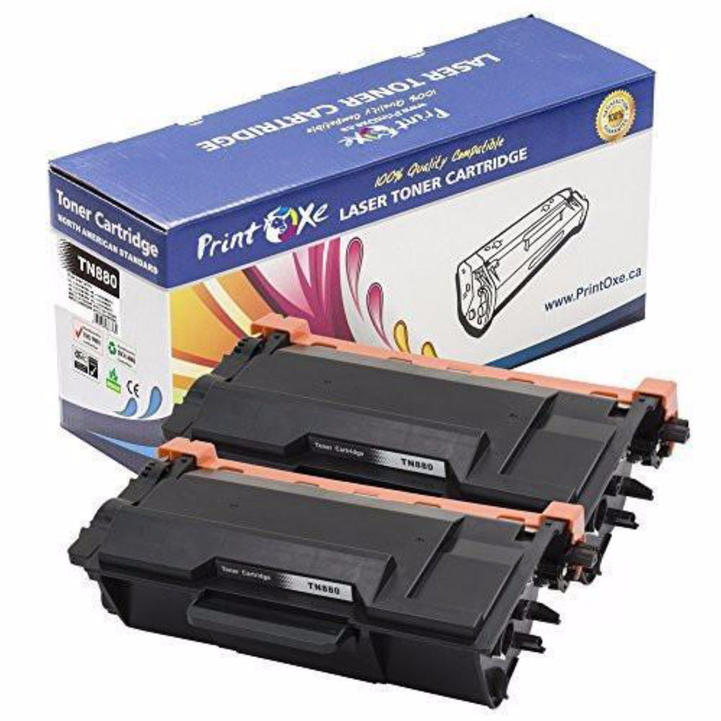 2-Pack Brother TN-880 Compatible Toner Cartridges - Pan Continent Inc. - PrintOxe