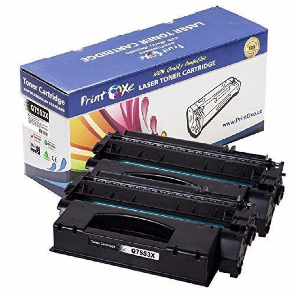 2-Pack HP Q7553X (53X) Compatible Black Toner Cartridges High Yield Delivers 7,000 Pages - Pan Continent Inc. - PrintOxe