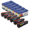 CRG 116 / 128A Compatible Set plus Black 5 Cartridges for Canon & HP Printers