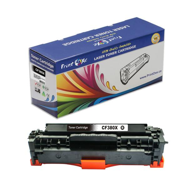CF380X / 312X Compatible 80X Black Toner Cartridge High Yield of CF380A / 80A for HP - Pan Continent Inc. - PrintOxe