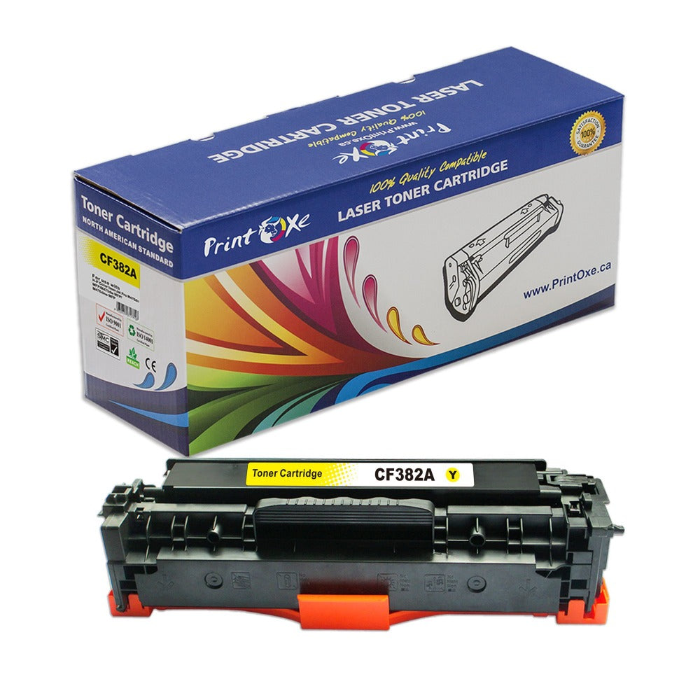 CF382A / 312A Compatible Yellow 82A Toner Cartridge for 312X HP - Pan Continent Inc. - PrintOxe