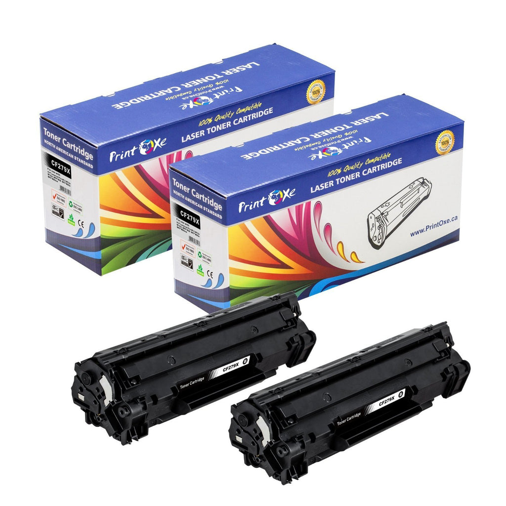 HP CF279X Compatible 2 Toner Cartridges Each Yields 2,000 Pages High Yield of CF279A - Pan Continent Inc. - PrintOxe
