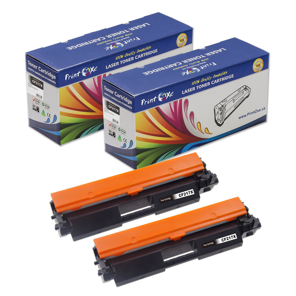 HP Compatible 2 Toner Cartridges for CF217X - High Yield with Chips 17X for LaserJet Pro and MFP Printers - Pan Continent Inc. - PrintOxe