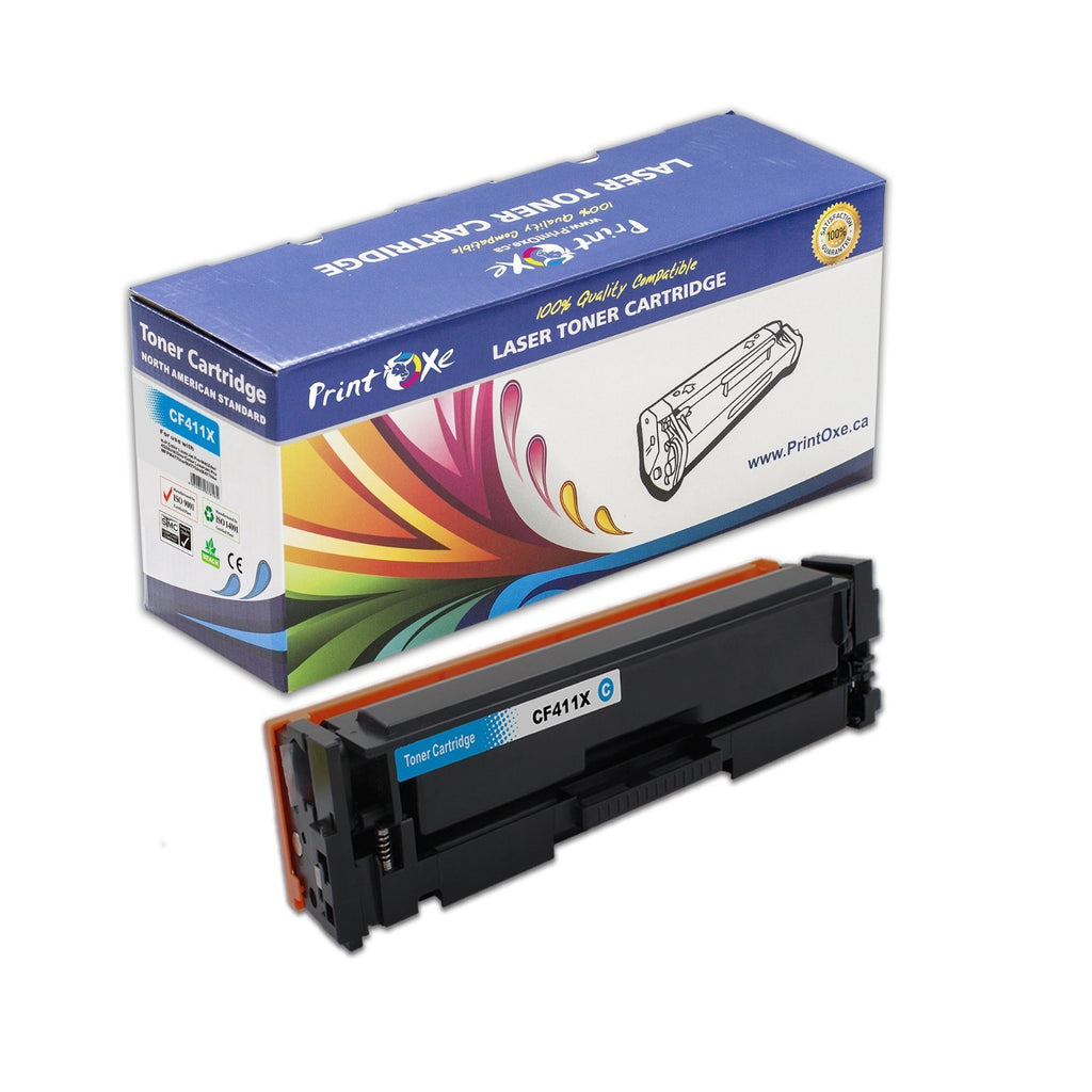 HP Compatible CF410X CF411X CF412X CF413X Set+Black of 5 Toner Cartridges - Pan Continent Inc. - PrintOxe
