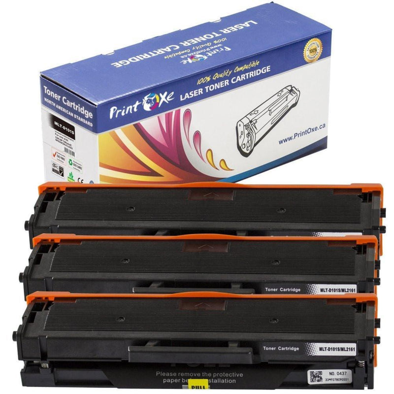 Samsung MLT-D101S Three Black Compatible Toner Cartridges - Pan Continent Inc. - PrintOxe