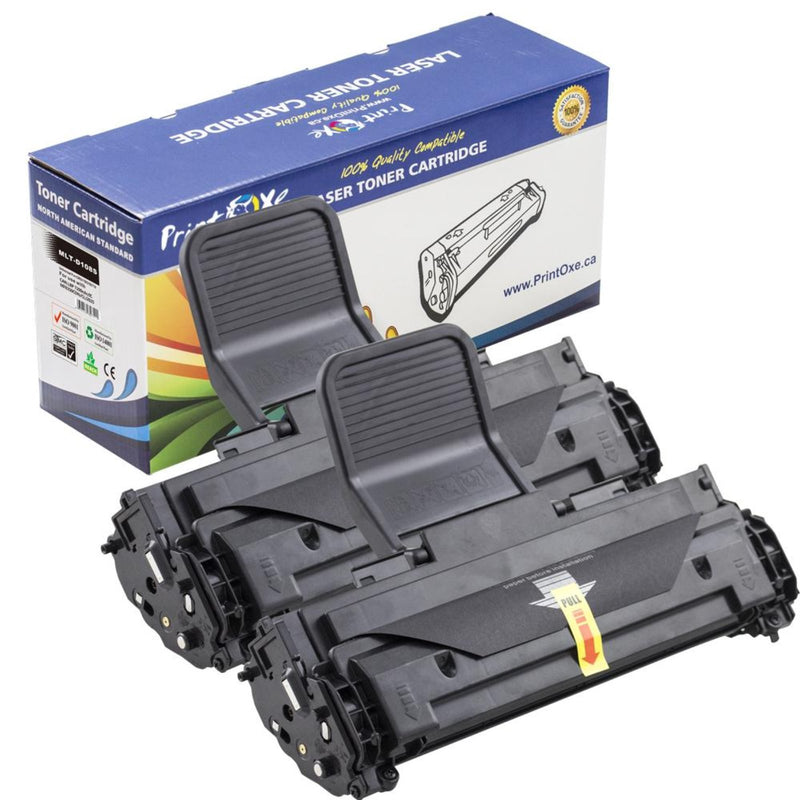 Samsung MLT-D108S Two Compatible Black Toner Cartridge - Pan Continent Inc. - PrintOxe
