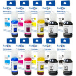 T502 Compatible Ink 10 Refill Bottles; 2 Sets plus 2 Black 502 For Epson EcoTank Expression - Pan Continent Inc. - PrintOxe