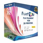 Yellow PLA 3D Printer Filament 1.75-1Kg Spool (2.2 LBs) Dimensional Accuracy +/- 0.03 mm - Pan Continent Inc. - PrintOxe
