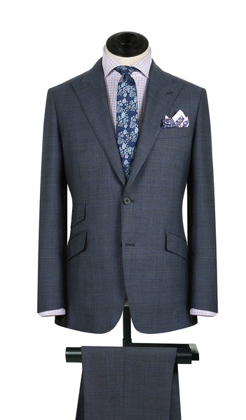 Cobalt and Royal Plaid Suit