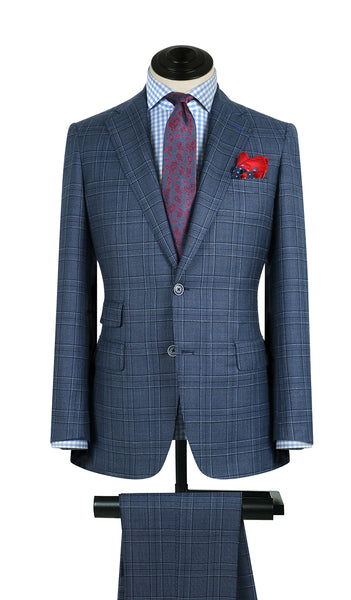 Sky Glenplaid Suit