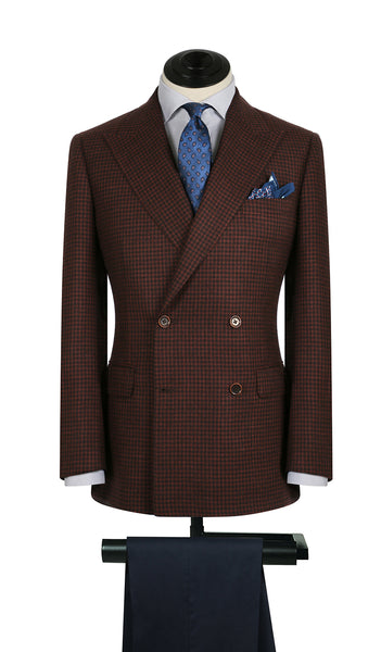Red Textured Weave DB Sports Coat