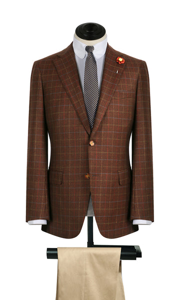 Rust Plaid w/ Blue Deco Sports Coat