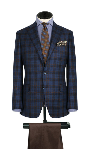Blue Check w/ Bright Sky WP Sports Coat