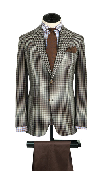 Tan and Brown Mini Check Sports Coat