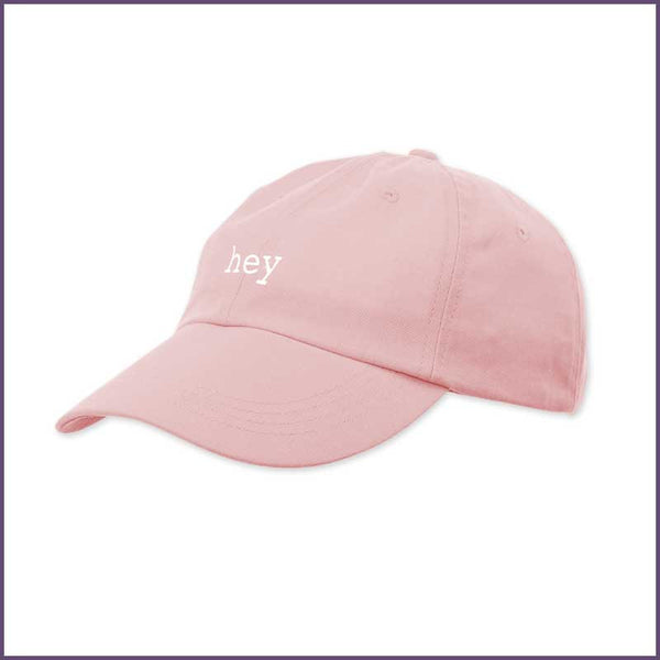 HEY VIOLET 'LOGO' PINK DAD HAT