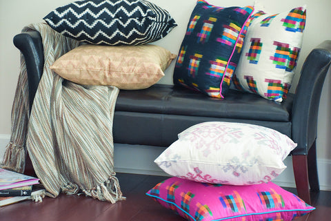 Ikat - Pure Silk Decorative Pillows