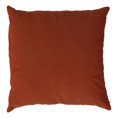 Ishani Cotton-Silk Decorative Pillow, Rust. Made from handcrafted natural 100% Cotton-Silk fabric using sustainable, fair trade practices.