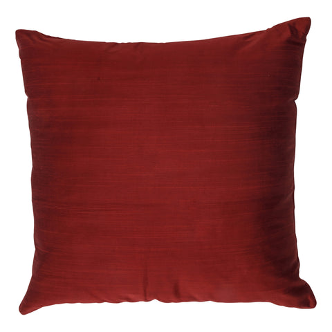 Ishani Cotton-Silk Decorative Pillow, Royal Red. Made from handcrafted natural 100% Cotton-Silk fabric using sustainable, fair trade practices.