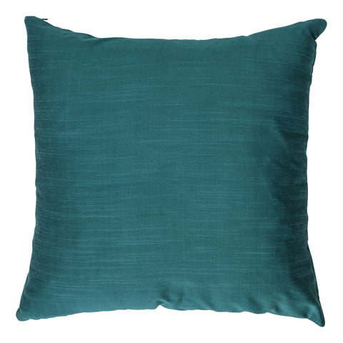 Ishani Cotton-Silk Decorative Pillow, Teal Green. Made from handcrafted natural 100% Cotton-Silk fabric using sustainable, fair trade practices.