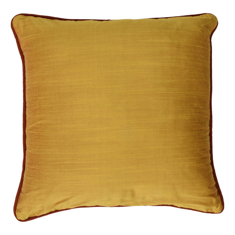Ishani Cotton-Silk Decorative Pillow, Vibrant Yellow. Made from handcrafted natural 100% Cotton-Silk fabric using sustainable, fair trade practices.