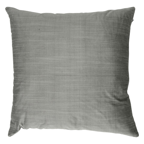 Ishani Cotton-Silk Decorative Pillow, Silver Gray. Made from handcrafted natural 100% Cotton-Silk fabric using sustainable, fair trade practices.