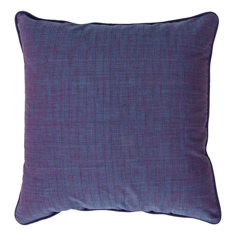 Fleurs Handloom Cotton Decorative Pillow, Violet. Made from handcrafted natural 100% Cotton fabric using sustainable, fair trade practices.