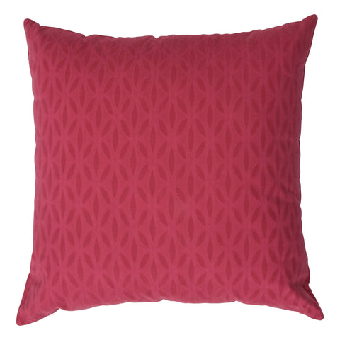 Impression Applique Cotton Decorative Pillow, Pink. Made from handcrafted natural 100% Cotton fabric using sustainable, fair trade practices.