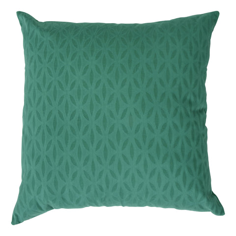 Impression Applique Cotton Decorative Pillow, Green. Made from handcrafted natural 100% Cotton fabric using sustainable, fair trade practices.