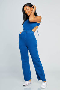 Always Available Denim Jumpsuit