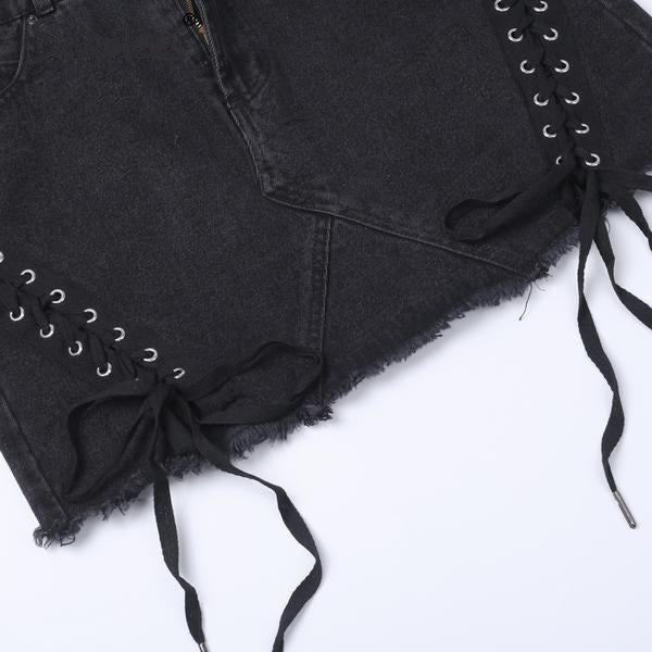Laced Sides Mini Skirt